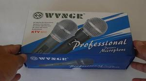 Microfone Duplo Com Fio Wg-218 Wvngr zap (