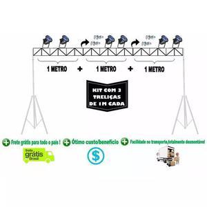 Kit De Com 3m De Treliça P/ Pedestal De Iluminação Dj