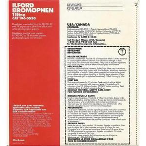 Revelador Ilford Bromophen (1 Litro) Caixa Lacrada Vencido