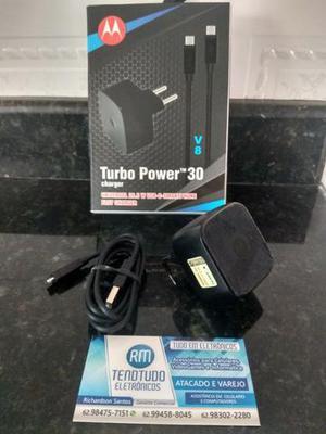 Carregador Motorola Turbo Power Tipo C 30w- Original - O