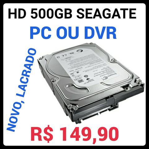 Novo, lacrado, hd 500GB Seagate, para PC e DVR, original,