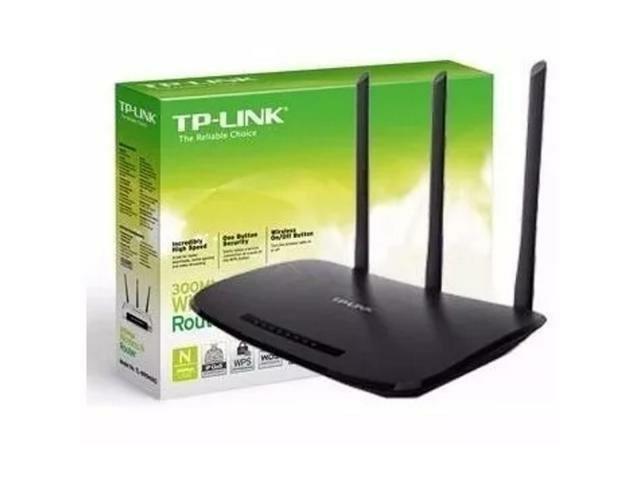 Roteador Wi-Fi 3 antenas, Tp-Link 450MBPS, Novo, original,
