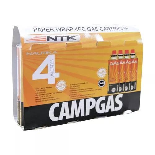 Kit Com 4 Cartucho De Gás Nautika Campgás