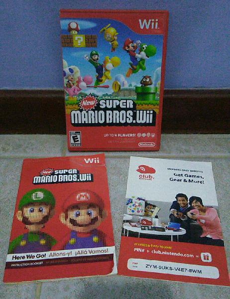 capa, manual e panfleto para o jogo new super mario bros