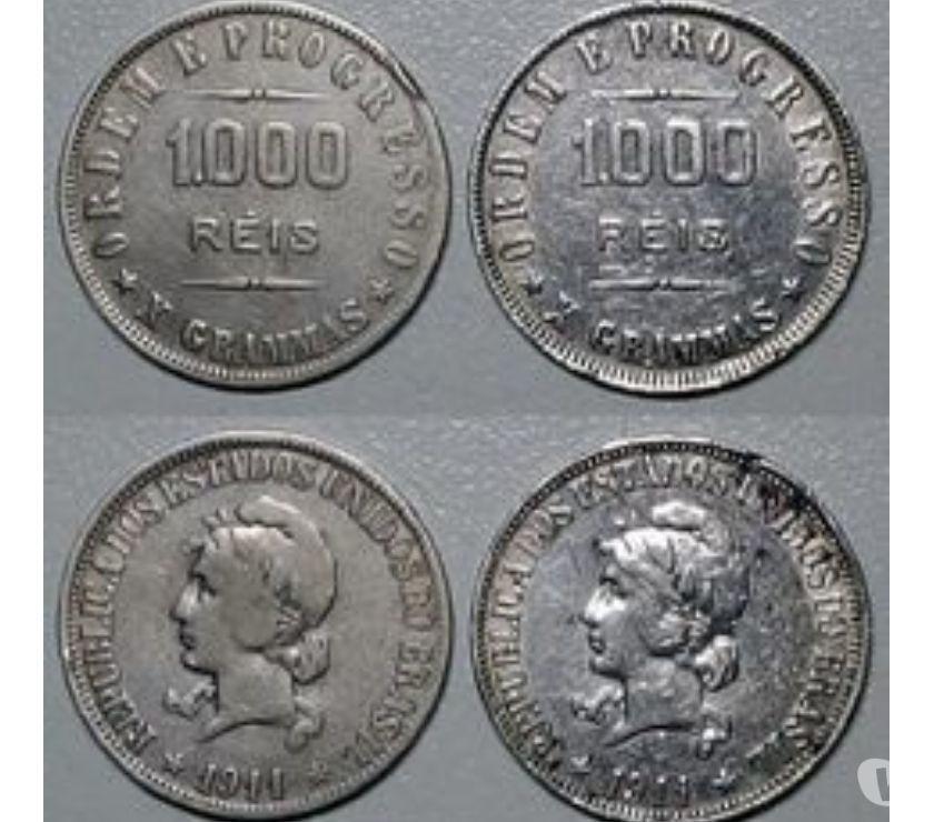 Quase 1 Quilo de Moedas de Prata Brasil de  a  R$500