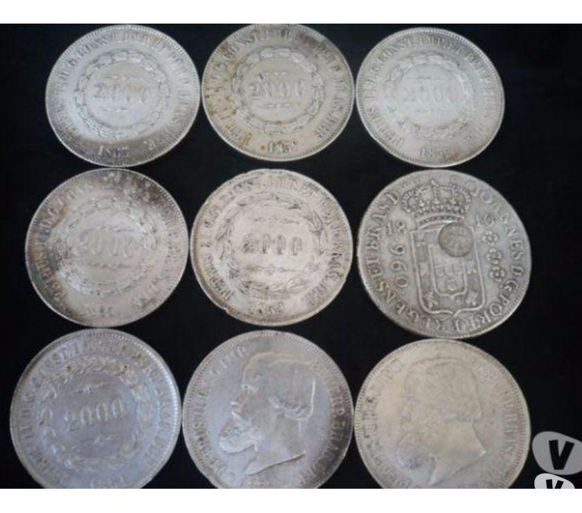 Vende-se 65 de moedas de Prata pura desde  a  R$950