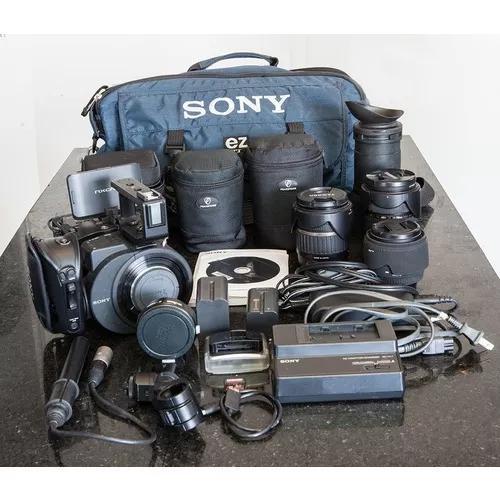 Kit Fs700 Sony Pronto Para Campanha + 3 Lentes Ef Canon
