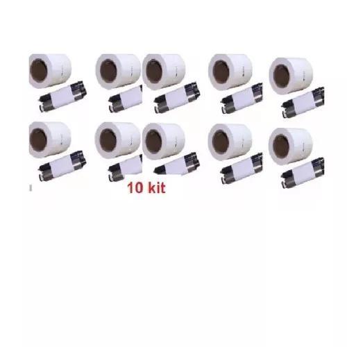 10 Kit Papel E Ribbon Impressora Kodak 305