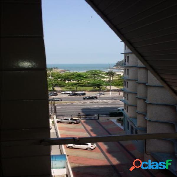 2 Dormitórios frente ao mar no José Menino c/ vaga