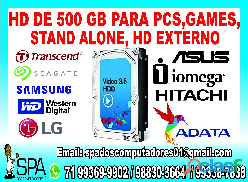 Hd de 500 Gb Seminovo para Pc, Games, Stand Alone e DVR em