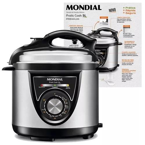 Panela De Pressão Elétrica 5l Mondial Pratic Cook 900w