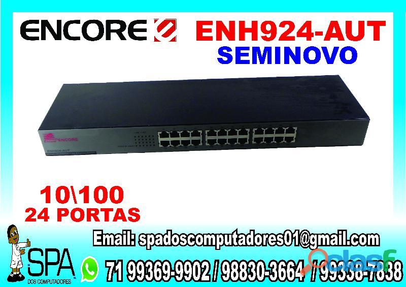Switch Hub Encore 24 portas 10100 Mbits Enh924 Aut Seminovo