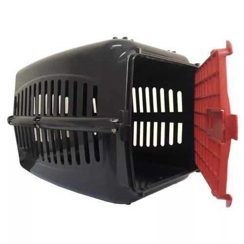 Caixa Transporte Cães E Gatos Resistente Até 12 Kg Tam 1