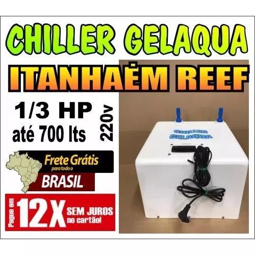 Chiller Gelaqua 1/3 Hp Para Até 750 Lts 220v