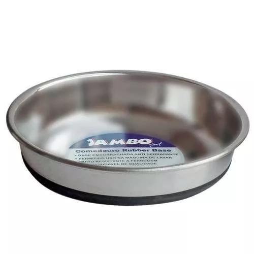 Comedouro Jambo De Inox Para Cães E Gatos 450 Ml - Tam. 02