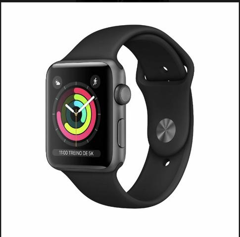 Relogio Apple Watch séries 3 black 42mm - Relogio Bluetooth