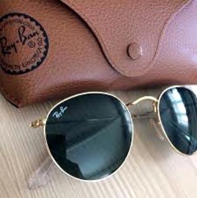 Óculos de sol RB Round Tradicional e lentes com fator solar