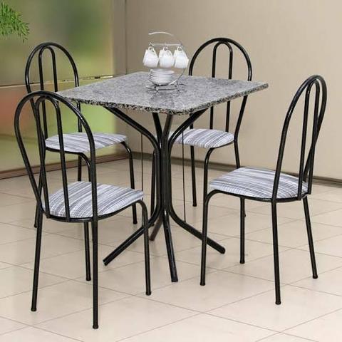 Mesa 4 cadeiras (mármore)