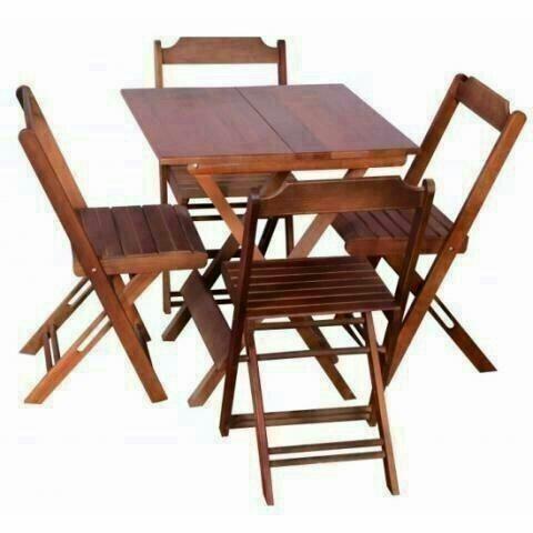 Mesa de bar 70x70 com 4 cadeiras direto do fabricante ligue