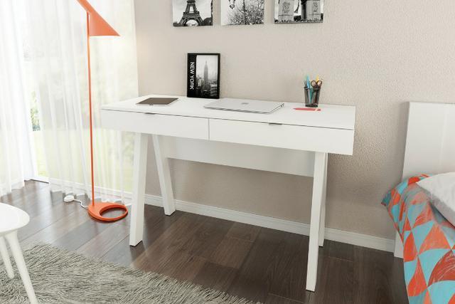 Mesa de escritório com 2 gavetas - HyperBuy - Produto Novo