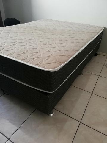 Conjunto cama box casal de molas Ortobom
