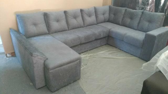 Sofá Em U com chaise a pronta entrega Novo