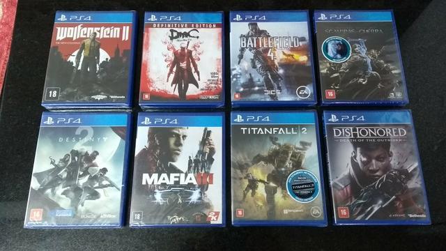 Jogos PS4 novos e lacrados