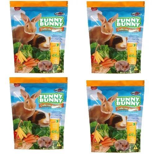 Ração Funny Bunny Delícias Da Horta - 1,8 Kg - 4 Unidades