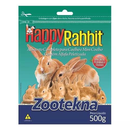 Ração Zootekna Happy Rabbit Para Coelhos E Mini Coelhos -