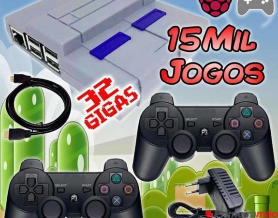 RetroGame 32GB com 100 sistemas com mais de 15 MIL JOGOS