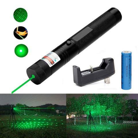 Super Caneta Laser Pointer mw Verde 18km Longo Alcance