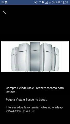 Compro Geladeiras e Freezers mesmo com defeito