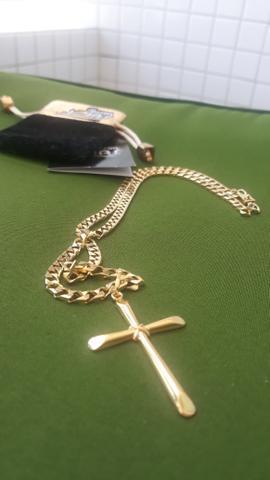 222d1c00fbb Cordão top (prata italiana banhada ouro)
