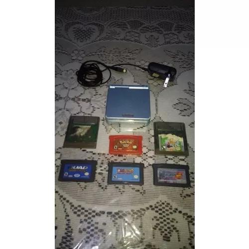 Game Boy Advance Sp Azul + 6 Jogos
