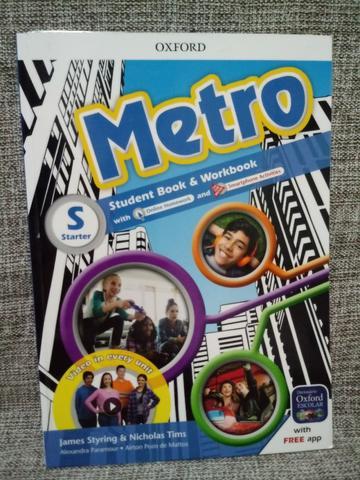 Livro de Inglês: Metro Student Book & Workbook