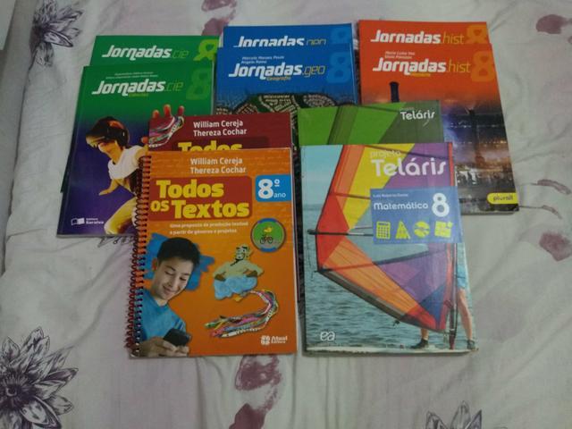 Livros didáticos 8° ano