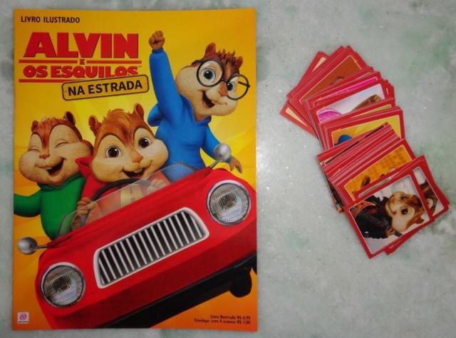 Album completo com todas as figurinhas para colar Alvin e os