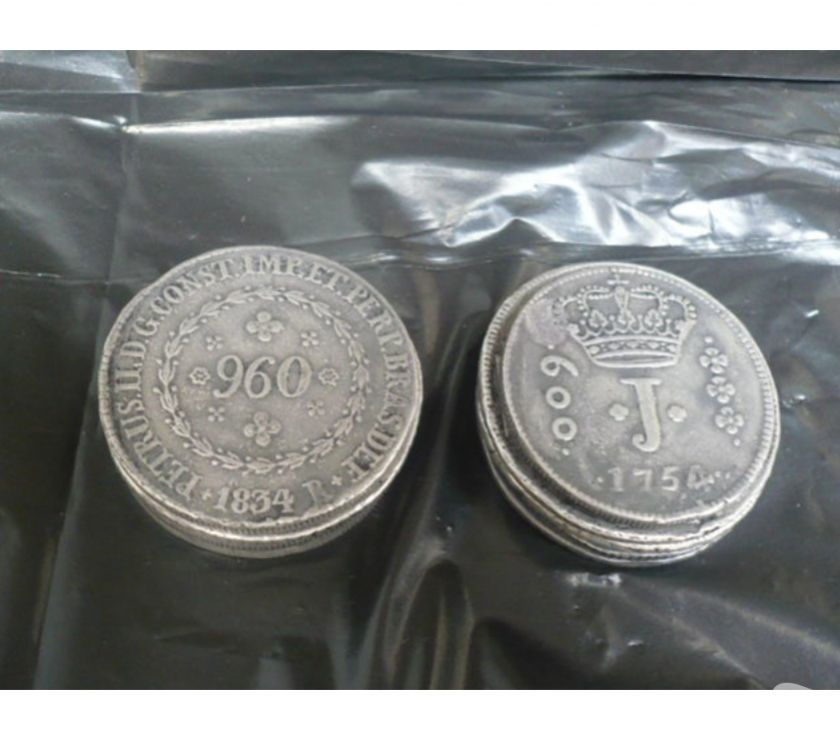 LOTE COM 18 MOEDAS ANTIGAS DE PRATA DE  A  R$900