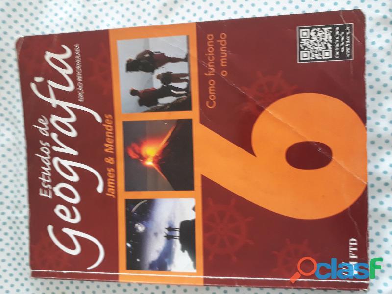 Livro Estudos De Geografia 6 Editora Ftd: 2012 (aluno)