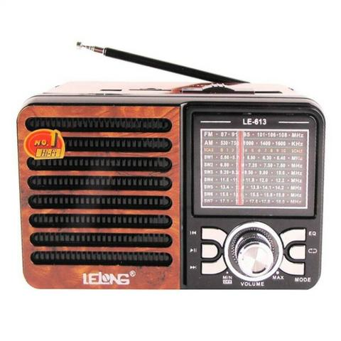 Rádio Portátil Retro Le 613 Usb Cartão Sd Pen Drive
