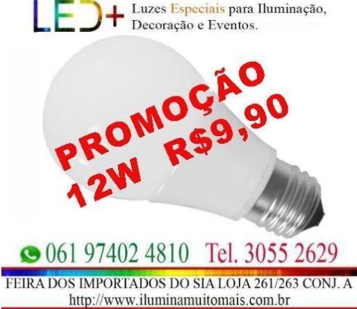 Lampada Led Bulbo 12W Promoção