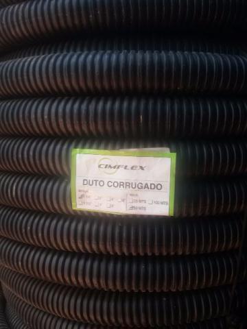 Mangueira Corrugada Cinflex Com 40 mm Rolo de 50 Metros Em