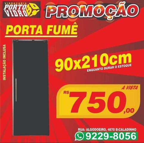 Promoção porta 90x210 fumê instalada a pronta entrega