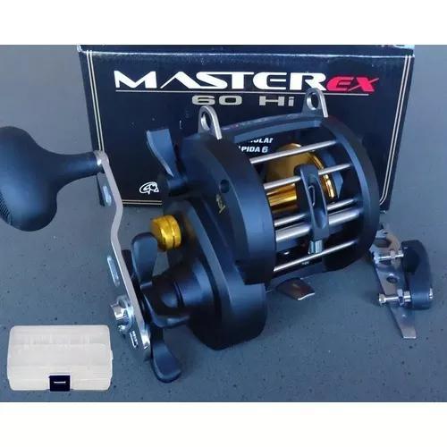 Carretilha Pesca Master Ex 60 Hi Marine 7r. Direita + Brinde