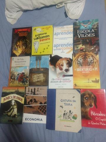 12 Livros em ótimo estado por 60 reais