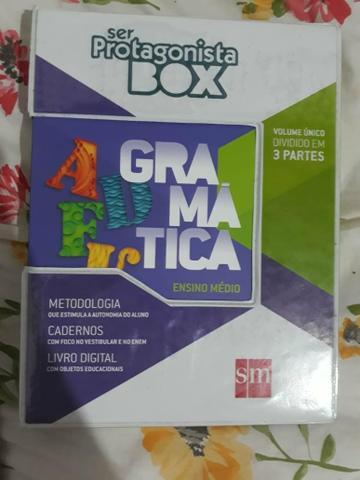 Gramática box ser protagonista nova