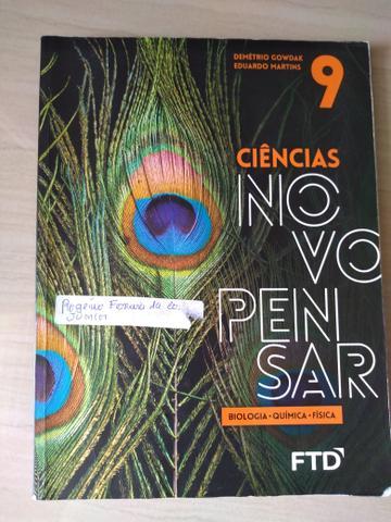 Livro de Ciências Novo Pensar 9 Ano