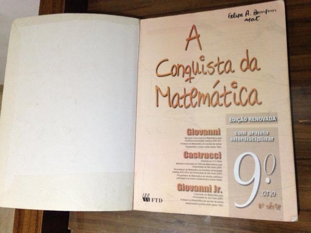Matemática - A Conquista da Matemática, Editora FTD (9