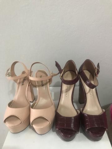 2 pares de sandália de salto alto festa casamento