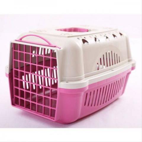 Caixa de Transporte Cães e Gatos Nº 1 Cor Rosa